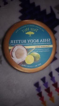 TREE HUT SHEA BODY BUTTER COCONUT LIME ORGANIC SHEA BUTTER 7