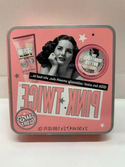 Soap & Glory Pink Twice Gift Set Body Scrub Of Your Life & T