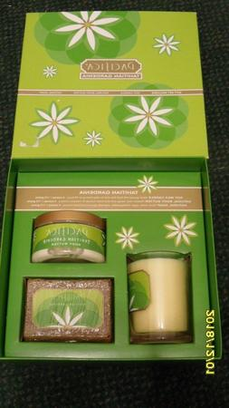PACIFICA TAHITIAN GARDENIA GIFT SET - BODY BUTTER, CANDLE, S