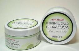 Trader Joe's Cucumber Avocado Body Butter 8 OZ Jar Limited E