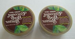 Trader Joes Coconut Body Butter  Lot of 2 New Full Size 8 oz