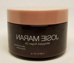 JOSIE MARAN WHIPPED ARGAN OIL BODY BUTTER VANILLA PEAR LT BR