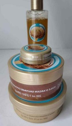 The Body Shop Wild Argan Oil Body Butter Scrub Shower Gel Ba